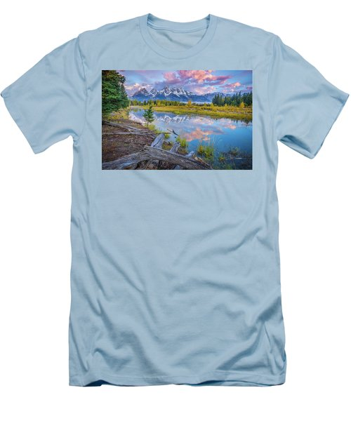 Grand Teton Sunrise Reflection Men's T-Shirt (Athletic Fit)