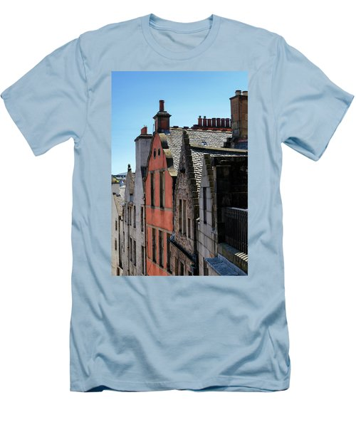 Men's T-Shirt (Athletic Fit) featuring the photograph Grassmarket In Edinburgh, Scotland by Jeremy Lavender Photography