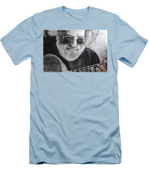 Men's T-Shirt (Slim Fit) featuring the drawing  Grateful Dude by Eric Dee