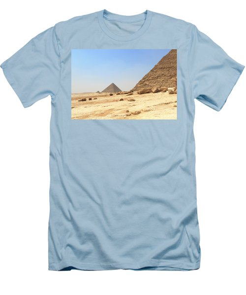 Men's T-Shirt (Athletic Fit) featuring the photograph Great Pyramids Of Gizah by Silvia Bruno