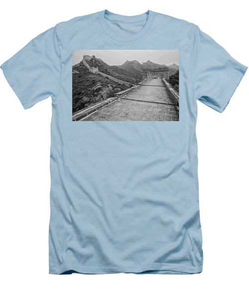 Men's T-Shirt (Slim Fit) featuring the photograph Great Wall 5, Jinshanling, 2016 by Hitendra SINKAR
