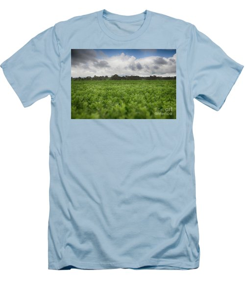 Green Fields 4 Men's T-Shirt (Slim Fit) by Douglas Barnard