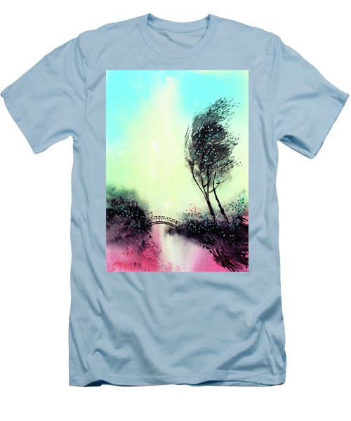 Men's T-Shirt (Slim Fit) featuring the painting Greeting 1 by Anil Nene