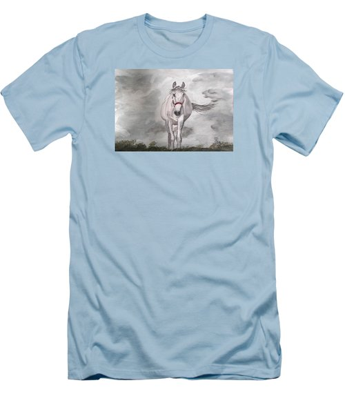 Grey On Grey Men's T-Shirt (Athletic Fit)