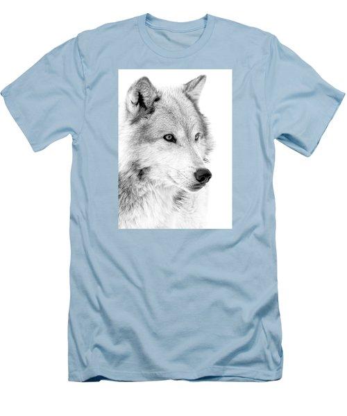 Grey Wolf Profile Men's T-Shirt (Slim Fit) by Athena Mckinzie