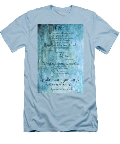 Men's T-Shirt (Slim Fit) featuring the mixed media Grief 2 by Angelina Vick