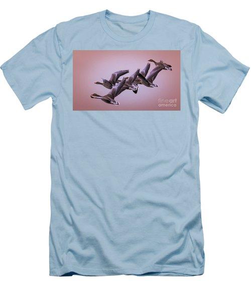 Group Flight  Men's T-Shirt (Slim Fit) by Franziskus Pfleghart