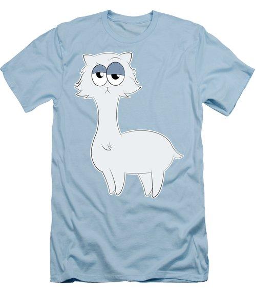 Grumpy Persian Cat Llama Men's T-Shirt (Slim Fit) by Catifornia Shop