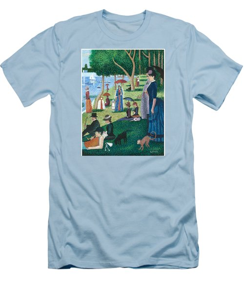 Guadalupe Visits Seuart Men's T-Shirt (Slim Fit) by James Roderick