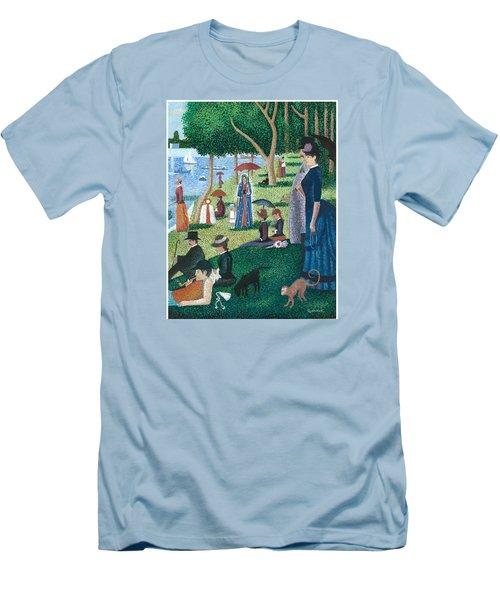 Guadalupe Visits Seuart Men's T-Shirt (Slim Fit)