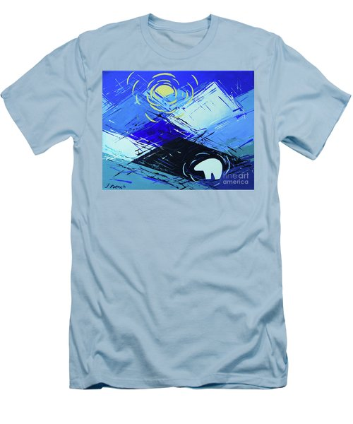 Guardian Bear Winter Men's T-Shirt (Slim Fit) by Jeanette French
