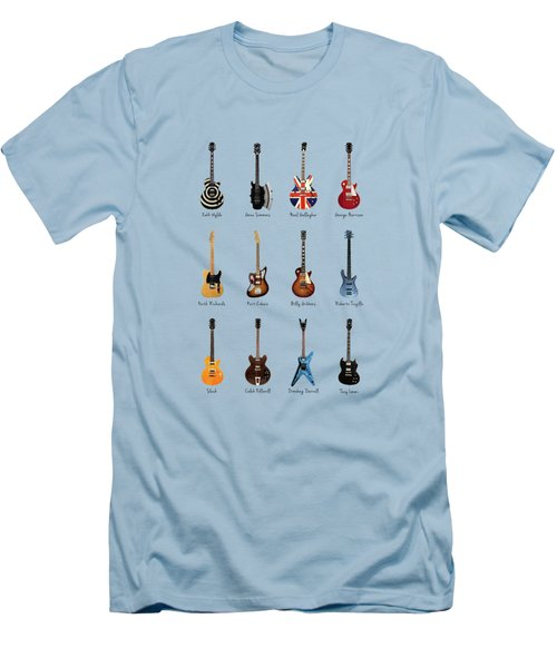 Guitar Icons No2 Men's T-Shirt (Slim Fit) by Mark Rogan