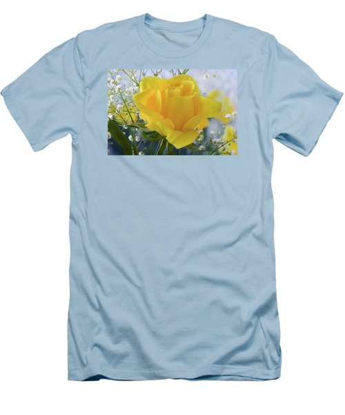 Gypsophila And The Rose. Men's T-Shirt (Slim Fit) by Terence Davis