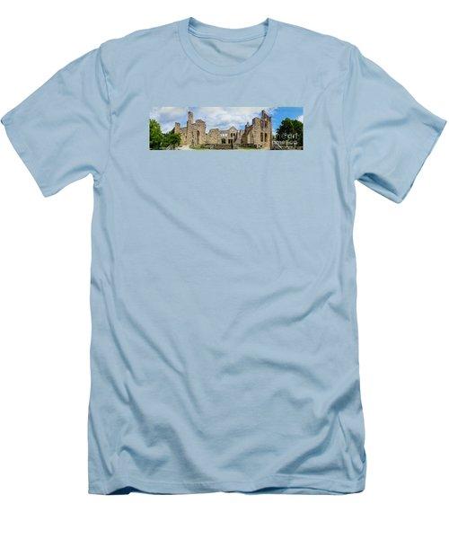 Ha Ha Tonka Castle Panorama Men's T-Shirt (Slim Fit) by Jennifer White