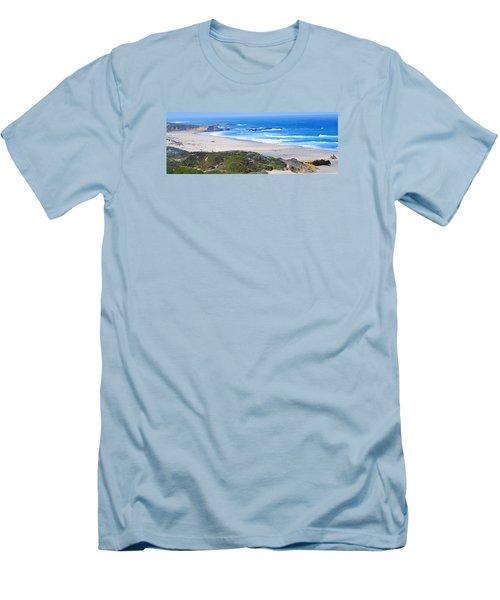 Half Moon Bay Men's T-Shirt (Slim Fit) by Holly Blunkall
