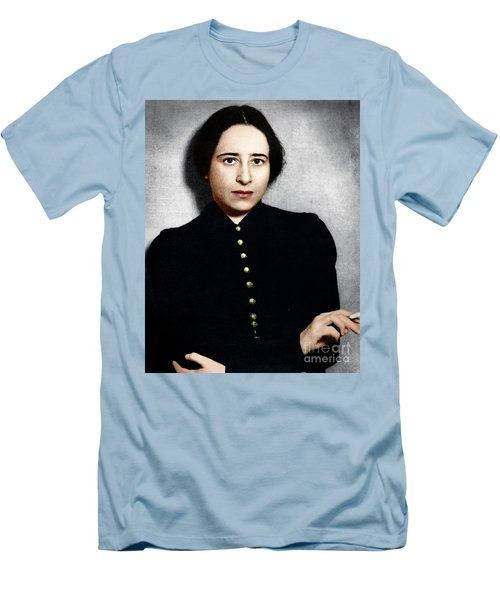 Men's T-Shirt (Athletic Fit) featuring the photograph Hannah Arendt by Granger
