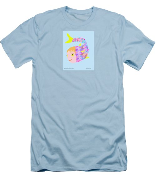 Happy Clown Fish  Men's T-Shirt (Slim Fit) by Fred Jinkins