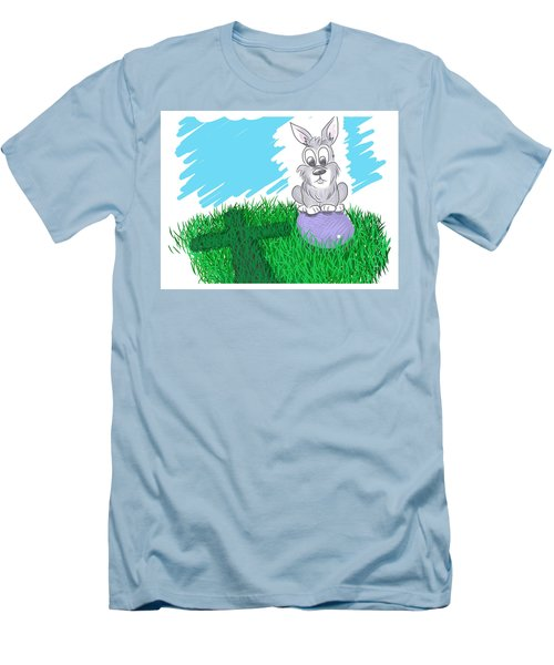 Men's T-Shirt (Athletic Fit) featuring the digital art Happy Easter by Antonio Romero