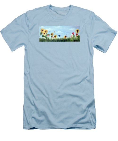 Happy Garden Men's T-Shirt (Slim Fit) by Carol Sweetwood