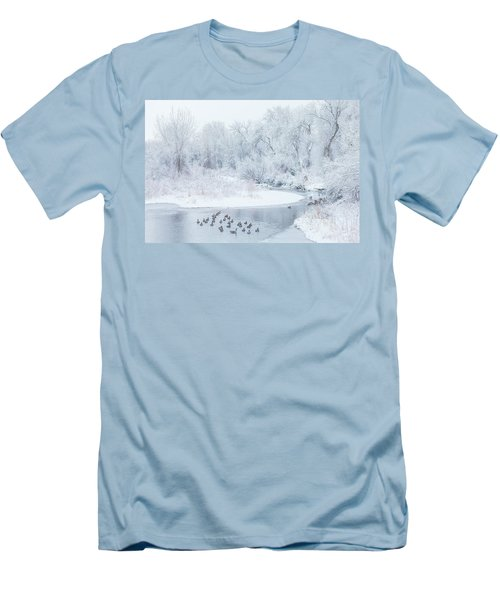Men's T-Shirt (Athletic Fit) featuring the photograph Happy Geese by Darren White