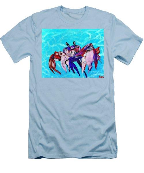Happy Little Crab  Men's T-Shirt (Slim Fit) by Scott D Van Osdol