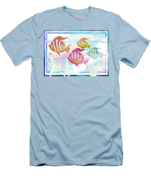 Happiness Is A Clean Ocean  Men's T-Shirt (Athletic Fit)