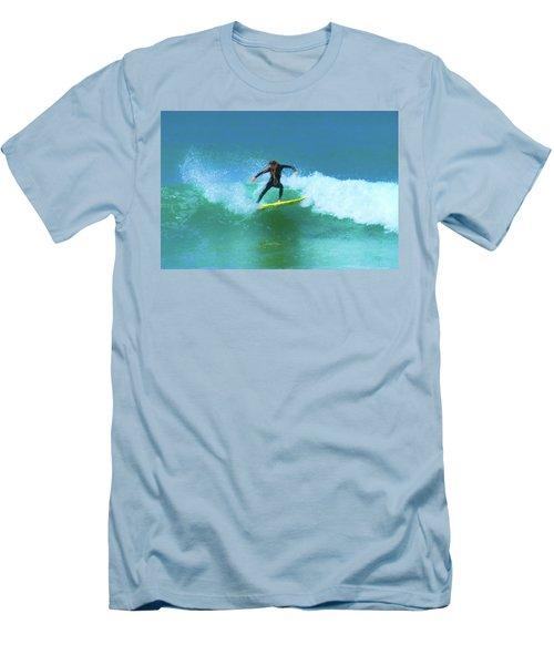 Hard Cut Dreadlocks Surfer Watercolor Men's T-Shirt (Athletic Fit)