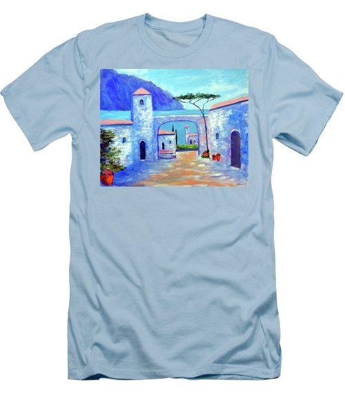 Men's T-Shirt (Slim Fit) featuring the painting Harmony Of Como by Larry Cirigliano