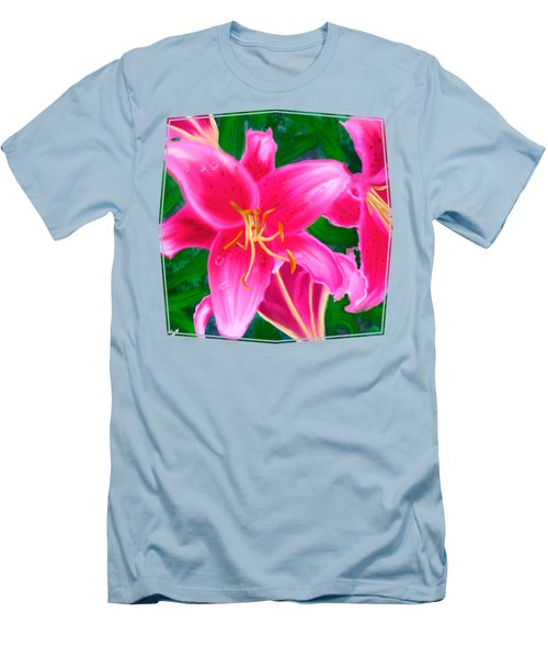 Hawaiian Flowers Men's T-Shirt (Athletic Fit)