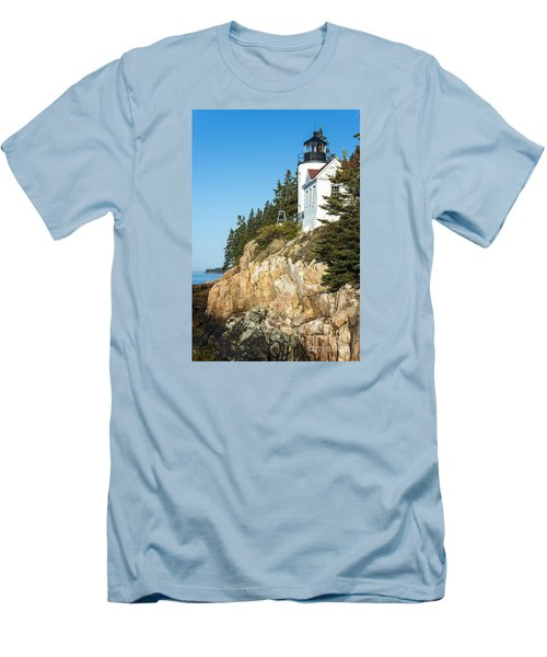 Men's T-Shirt (Slim Fit) featuring the photograph Head Lighthouse by Anthony Baatz