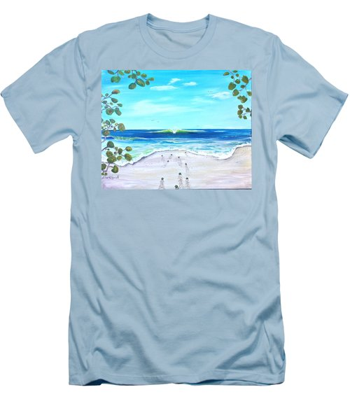 Men's T-Shirt (Slim Fit) featuring the painting Headed Home by Dawn Harrell