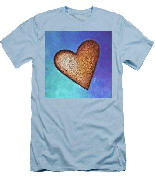 Heart Men's T-Shirt (Slim Fit) by Agata Lindquist