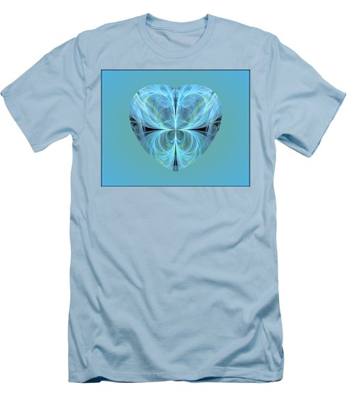 Heart - Ghost Blue Men's T-Shirt (Athletic Fit)