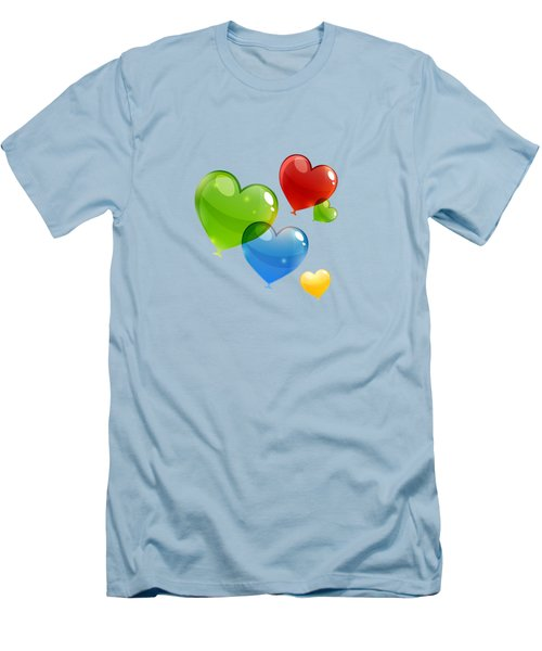 Hearts 11 T-shirt Men's T-Shirt (Slim Fit) by Herb Strobino