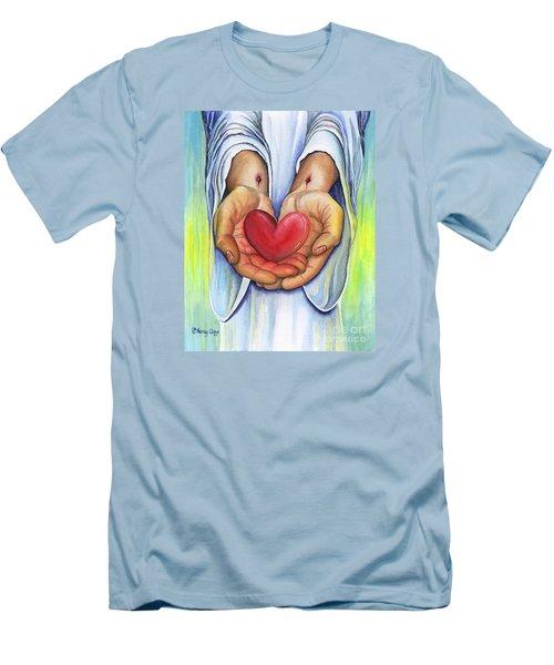 Heart's Desire Men's T-Shirt (Slim Fit) by Nancy Cupp