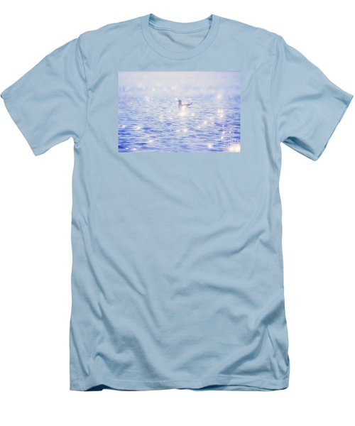 Men's T-Shirt (Slim Fit) featuring the photograph Heaven On The Lake- Lake Mary Ronan  by Janie Johnson