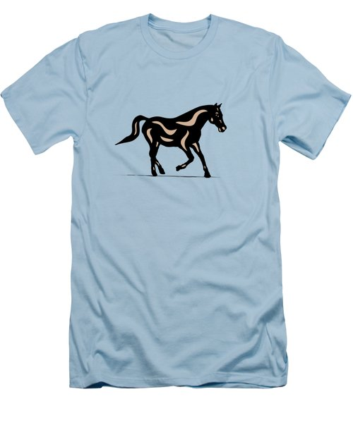Heinrich - Pop Art Horse - Black, Hazelnut, Island Paradise Blue Men's T-Shirt (Athletic Fit)