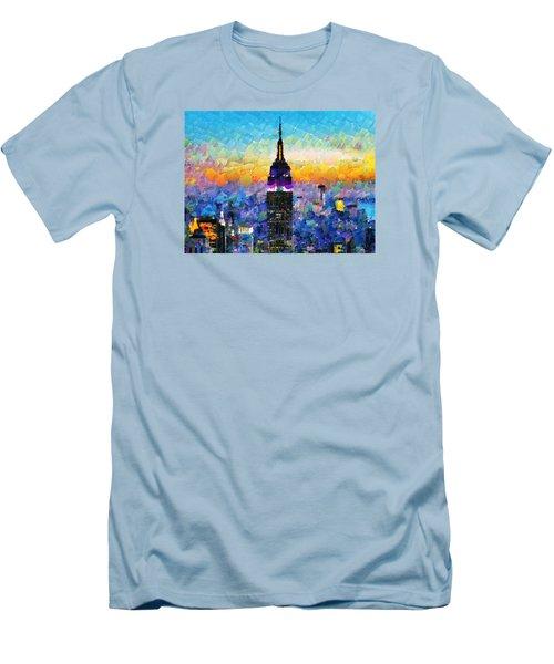 Hello New York Men's T-Shirt (Slim Fit) by Sir Josef - Social Critic -  Maha Art
