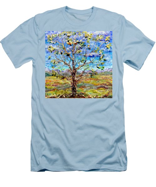 Herald Men's T-Shirt (Slim Fit) by Regina Valluzzi