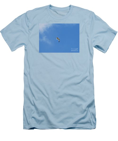 Herring Sea Gull 20120409_244a Men's T-Shirt (Slim Fit) by Tina Hopkins
