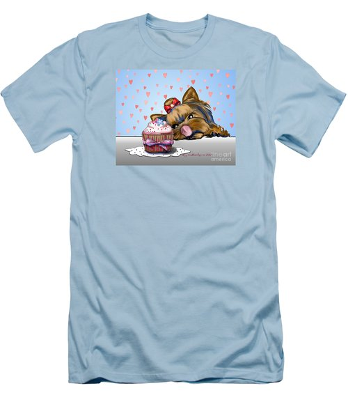 Hey There Cupcake Men's T-Shirt (Slim Fit) by Catia Cho