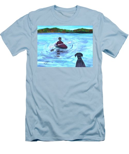 Men's T-Shirt (Slim Fit) featuring the painting Hey Where You Going  by Donna Walsh