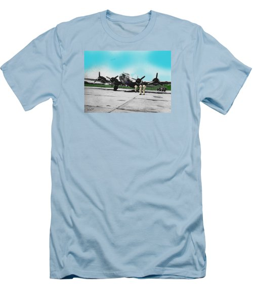 Hickam Fort Men's T-Shirt (Slim Fit) by Walter Chamberlain