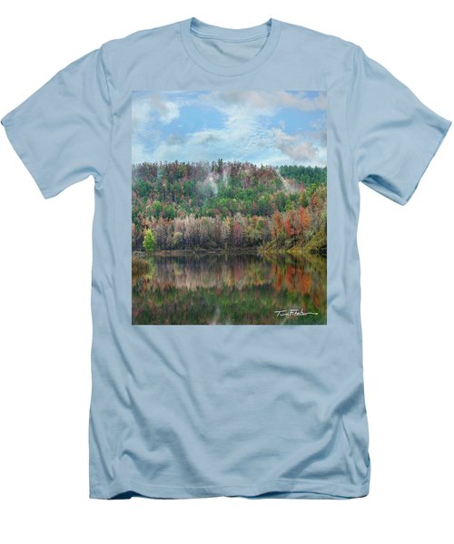 Hickory Forest Men's T-Shirt (Slim Fit) by Tim Fitzharris
