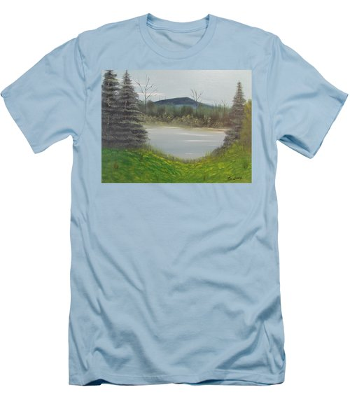 Hidden Pond  Men's T-Shirt (Slim Fit) by Thomas Janos