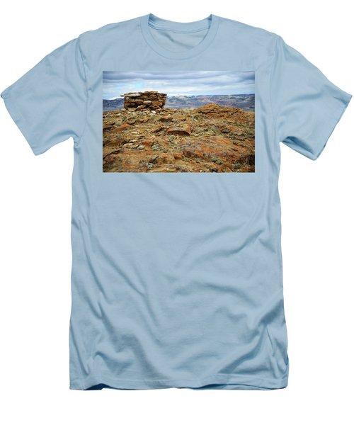 High Desert Cairn Men's T-Shirt (Slim Fit) by Eric Nielsen
