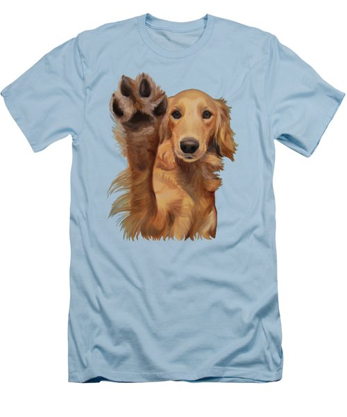 High Five Men's T-Shirt (Slim Fit) by Jindra Noewi