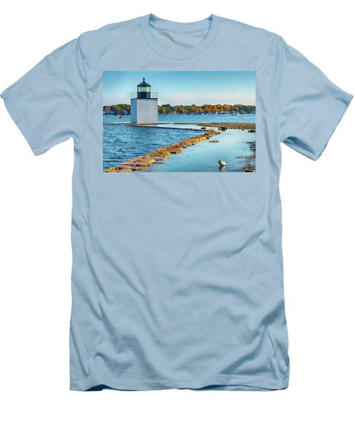 Men's T-Shirt (Athletic Fit) featuring the photograph High Tide At Derby Wharf In Salem by Jeff Folger