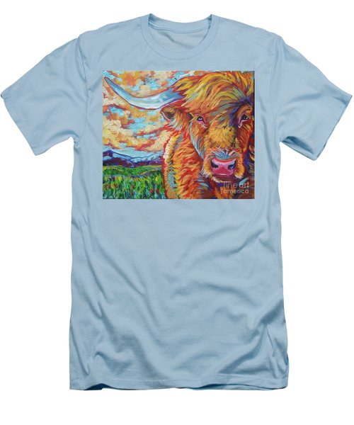 Men's T-Shirt (Slim Fit) featuring the painting Highland Breeze by Jenn Cunningham