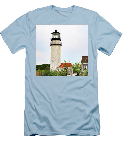 Men's T-Shirt (Slim Fit) featuring the photograph Highland Lighthouse II by Marianne Campolongo